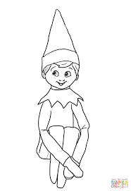 elf on the shelf clipart black and white clipartxtras