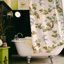 Bird Shower Curtains Threshold Botanical Blue Bird Fabric Shower Curtain Target