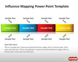 influence mapping powerpoint template is a simple slide design and