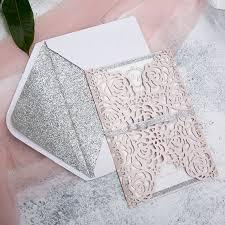 silver glitter ribbon pink and silver laser cut glittery wedding