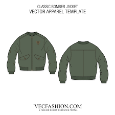 classic bomber jacket vector template vecfashion