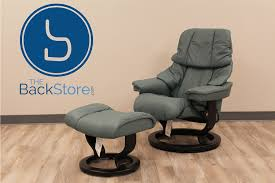 canap stressless stressless ta small reno aquagreen leather recliner chair