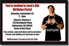 john cena birthday party invitations archives