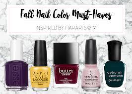 fall 2016 nail color must haves hapari