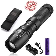 le torche puissante led cree 1000 lumens t6 zoom neuf achat
