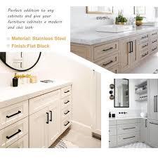 black pulls for white kitchen cabinets 50 pack modern black cabinet hardware pulls on white cabinets lsj12bk