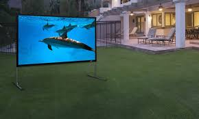 open air cinema feet outdoor home projector screen projection