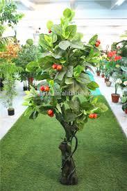 indoor home garden decorative 2m height artificial wooden lemon