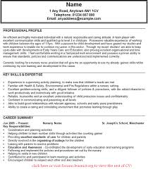 Child Care Assistant Job Description For Resume by Nursery Nurse Cv Example Forums Learnist Org