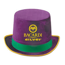 mardi gras apparel custom imprinted felt top hat mardi gras apparel for sale