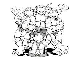 teenage mutant ninja turtles coloring pages printable to