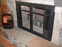 fireplace glass doors and blower unfinished glass fireplace door