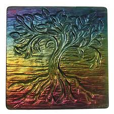 12 x 12 inch tree of texture tile mold for glass slumping