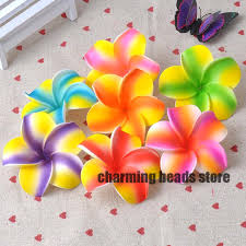 artificial flower 30pcs plumeria hawaiian foam frangipani artificial flower for