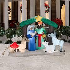 shop 4 724 ft internal light nativity christmas inflatable at