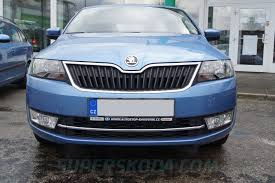 rapid front bumper chrome 3pcs lid set oem skoda superskoda com