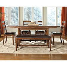 dining room with bench brandy 6 piece dining set with bench santa clara rc willey