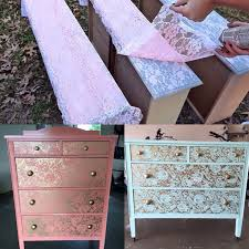 Upcycle Laminate Furniture - best 25 lace painted furniture ideas on pinterest lace painting