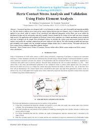 hertz contact stress analysis and validation using finite element
