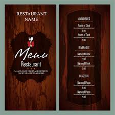 menu templates vintage restaurant menu templates free vector in adobe illustrator