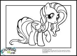 little pony friendship is magic coloring pages fluttershy