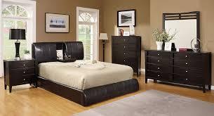 Espresso Bedroom Furniture by Amazon Com Furniture Of America Stanley Leatherette Platform Bed