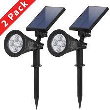 bcp solar lights spotlight outdoor landscape lighting waterproof