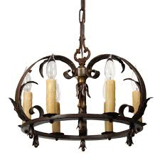 Antique Iron Chandeliers Antique Tudor Wrought Iron Chandelier Preservation Station
