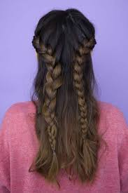 half up half down braid how to create 2 completely different