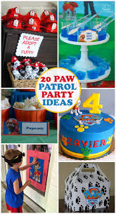 20 paw patrol birthday party ideas kids activities