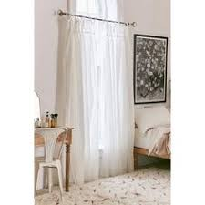 Tie Top Curtain Panels White Cotton Voile High Quality Fabric Sheer Tie Top Unlined