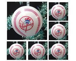 mlb major league baseball new york yankees set of 6 holiday