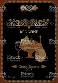 wine label with organic ornament stock vector more images of