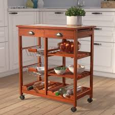 industrial iron wood kitchen trolley natural black buy kitchen kitchen islands carts joss main