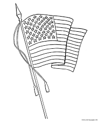 Waving American Flag Waving American Flag 7e53 Coloring Pages Printable
