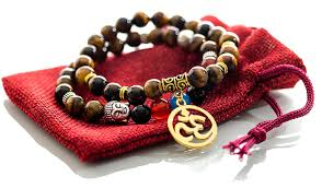 red prayer bead bracelet images Gems of peace tiger eye beaded om buddha yoga jpg