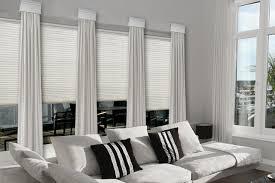 Contemporary Cornice Window Treatments - Family room window treatments