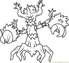pokemon coloring pages images trevenant pokemon coloring page free pokémon coloring pages