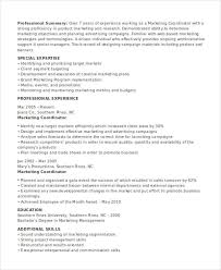 sample resume for marketing coordinator marketing skills resume if you want to work in advertising office