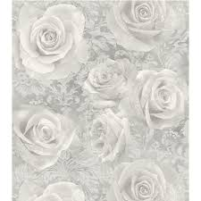 silver flowers arthouse reverie wallpaper silver decorating b m stores