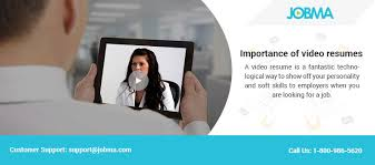 Online Video Resume by Importance Of Video Resumes Jobma Jobs Pulse Linkedin