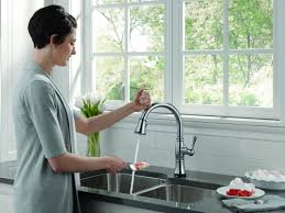 Kitchen Touch Faucets by Faucet Com 9197t Ar Dst Sd In Arctic Stainless By Delta