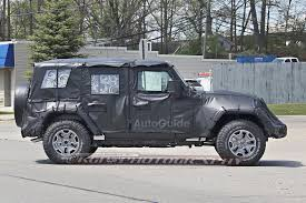 jeep wrangler 4 door top off 2018 jeep wrangler two door spotted for the first time autoguide
