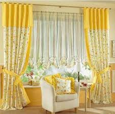 Yellow White Curtains Interesting Decoration Yellow Curtains For Living Room