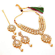 new necklace design images Jewar mandi necklace set gold plated kundan bridal puwai handmade jpg