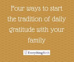 Gratitude Meme - ways to start the tradition of daily gratitude with your family