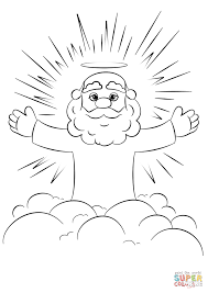 cartoon god on a cloud coloring page free printable coloring pages