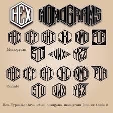 three letter monogram hex font dafont