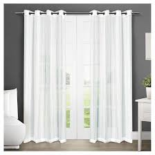 Curtain Panels Set Of 2 Apollo Sheer Window Curtain Panels White Exclusive Home