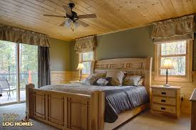 Timber Frame Bed Golden Eagle Log And Timber Homes Log Home Cabin Pictures